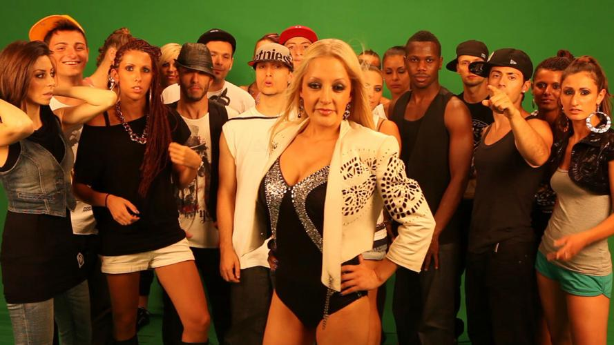 "nuelle con Carolina Marquez durante le riprese del video ""WEEKEND"" Artist: CAROLINA MARQUEZ feat LIL WAYNE & GLASSES MALONE Diretto dal regista Marco Pavone"